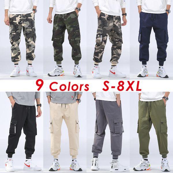 best website outlet store free shipping Acheter 8XL Hommes Automne Casual Streetwear Militaire Camo Cargo Pants  Pantalons Hommes Outfit Hiver Hip Hop Camouflage Coton Poche Pantalon  Hommes ...