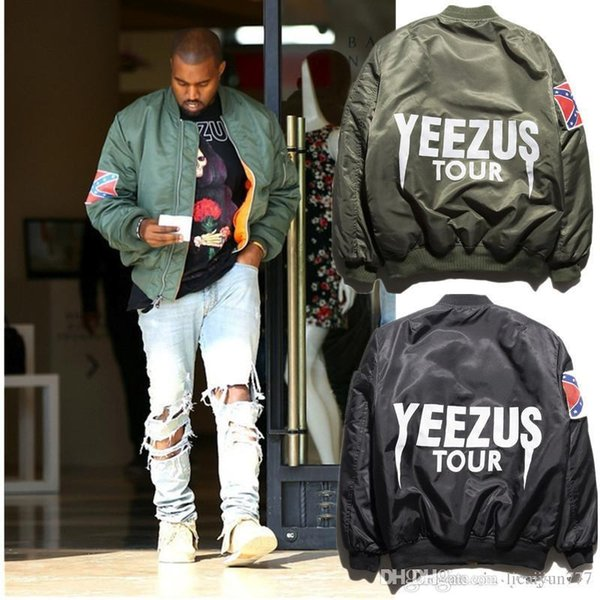 Man Bomber Jacket 2020 Big Sam Kanye West Yeezus Tour Pilot Outerwear Men Army Green Merch Flight Coat