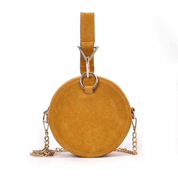 2019 New Solid Color Pu Fashion Mini Casual Small Round Bag Casual Exquisite Handbag Cute Lady Shoulder Messenger Bag