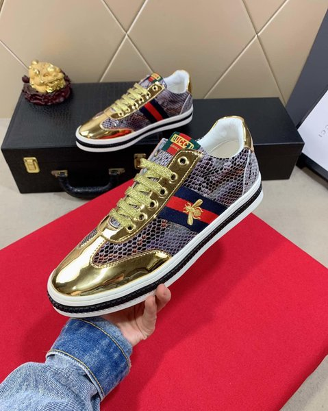 2019t fashion men's high-end handmade sports shoes casual shoes new, code 35-45, send a full set of original shoe box DHL logistics delivery