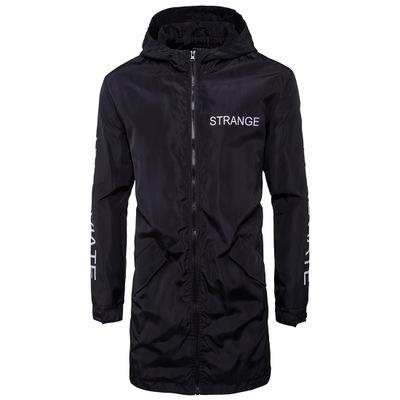 Long impression Lettre printemps hommes Windrunner Sport Manteaux Sweats Vestes Homme Mode coupe-vent imperméable Outwear régulier