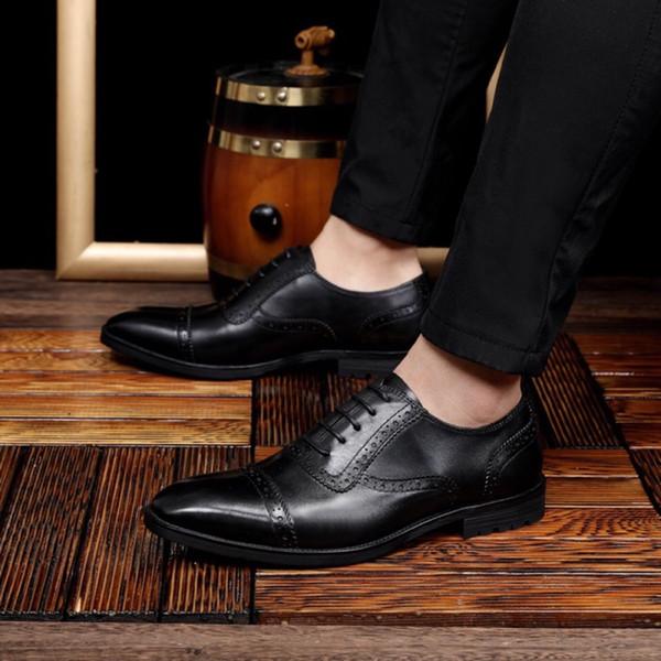 Zapatos de vestir de marca de lujo para hombre Slip-On Mocasines informales Diseñador de hebilla de metal para hombre Zapatos de cuero para hombre Zapatos Oxfords para negocios Tamaño 38-44