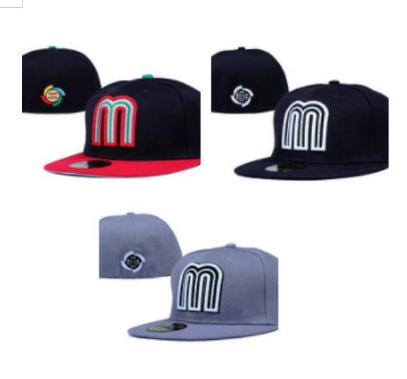 best selling Wholesale Mix Order Mexico All Teams Men's Fitted Baseball Hats Caps Snapback Free Shipping