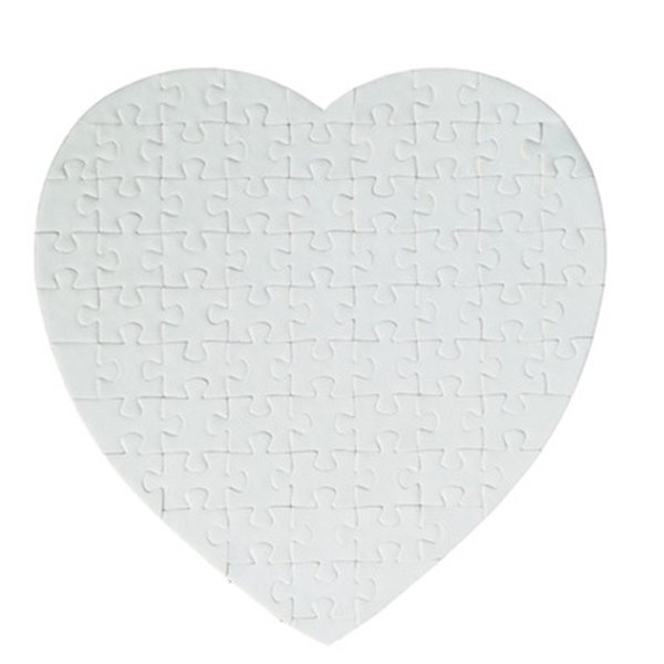 best selling MDF sublimation blank thermal transfer DIY Heart-shaped Pearlescent puzzle heart love shape hot transfer printing blank consumables puzzle