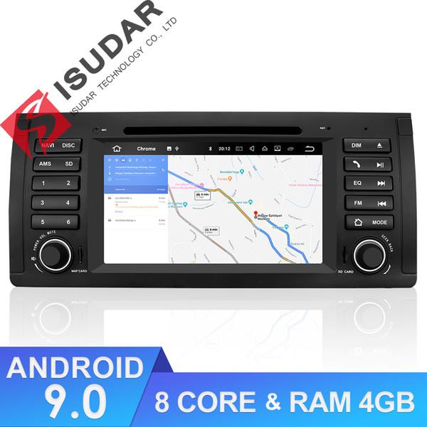 Leitor de Multimídia GPS Do Carro Isudar Android Autoradio Para BMW / E39 / X5 / M5 / E53 Octa Núcleo de Rádio 1 Din DSP Câmera DVR DVD
