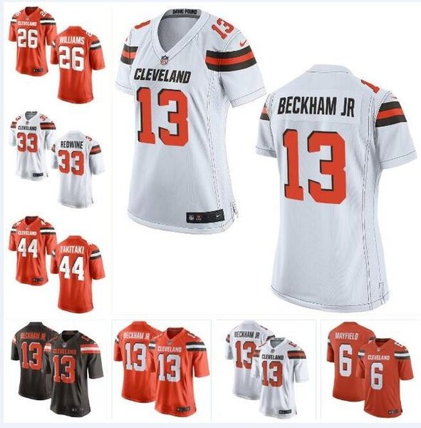 outlet store 2f212 2362c 2019 Cleveland Odell Beckham Jr Browns Jersey Baker Mayfield Myles Garrett  Jarvis Landry Denzel Ward Custom American Football Jerseys Elite Mens From  ...