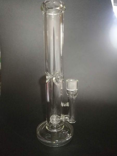 14inch Clear Color толщина 7 мм Straight стекла Бонг водопроводной трубы с матрицей перколаторы 18.8mm соединением с чашей или кварцевой сосиской