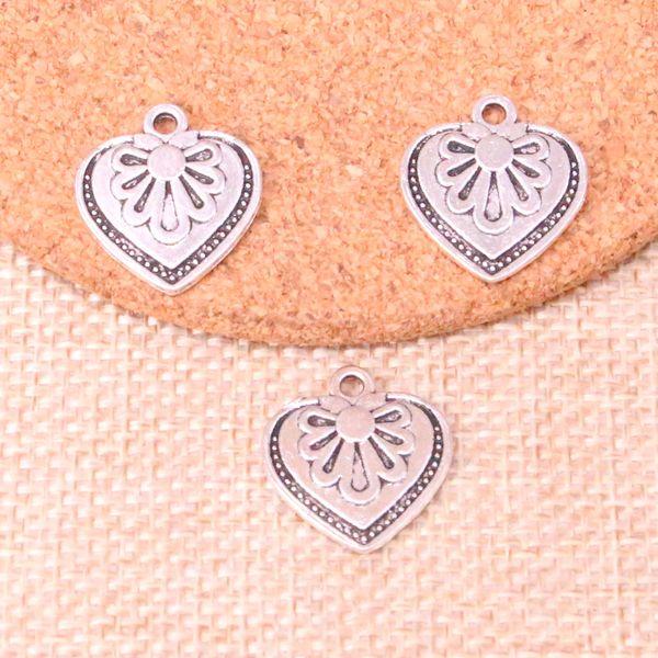 67pcs Charms heart flower 17*20mm Antique Making pendant fit,Vintage Tibetan Silver,DIY Handmade Jewelry