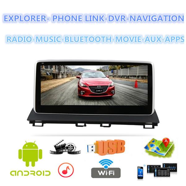 2 din android car Tesla Style radio 10.25 pulgadas Navegador GPS Reproductor multimedia para el NUEVO Mazda3 Axela
