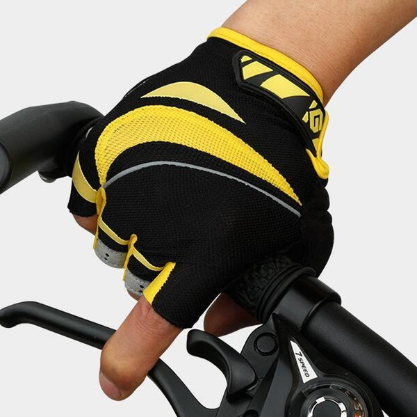 Cycling Gloves For Men Outdoor Professional Autumn And Winter Dynamic Glove Road Bicycle Half Finger Sport Mountain Bike Mitts 59kg F