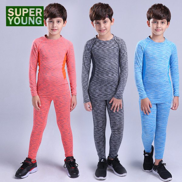 Boys Jogging Training Suits Kids Running Sportswear Children Basketball Tracksuit Leggings Men Fitness Gym Tights Clothing Sets