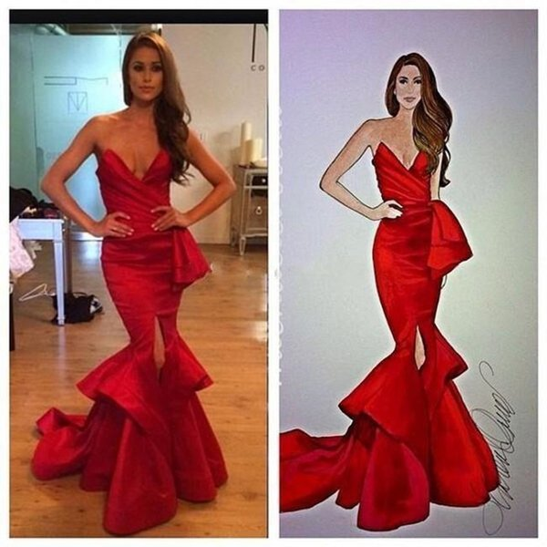 2020 New Front Split Tiered Red Mermaid Prom Dresses with Sash Ruched Sweetheart Evening Gowns Maid of Honor Bride Dress Vestidos De Festa