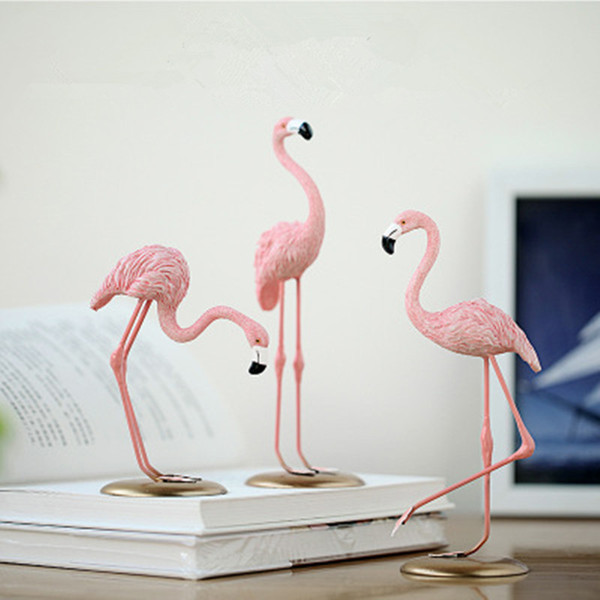Pink Flamingo Decoration Christmas Home Decoration Flamingo Table Decora For Baby Living Room Romatic Wedding Party Ornament Ins J190706