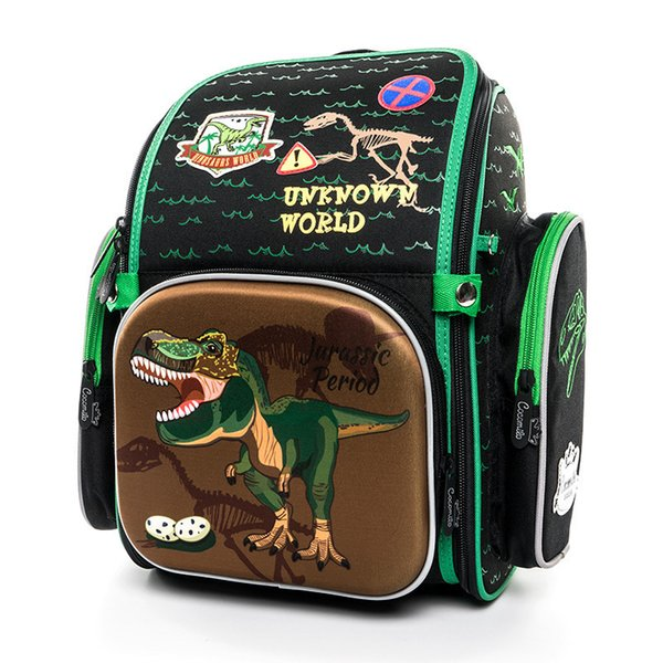 Cocomilo Brand Children 3d Cartoon School Backpack Girls 1-3 Grade Orthopedic Dinosaur School Bag For Kids Boys Mochila Infantil