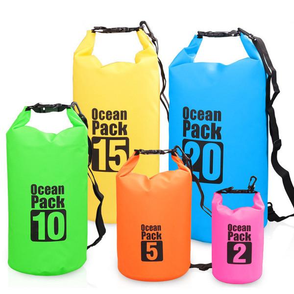 top popular DHL 2L Ocean Pack Waterproof Dry Bag All Purpose Dry Sack for Outdoor Floating Kayaking Hiking Swimming Snowboarding 2021