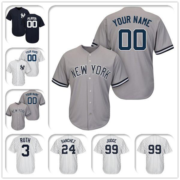 promo code 5eb08 77daf 2019 New York Yankees Majestic Cool Base Custom Gray Baseball Jersey 87  Albert Abreu 70 Domingo Acevedo 43 Chance Adams 41 Miguel Andujar From ...