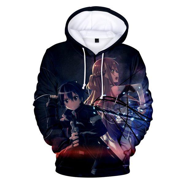 aikooki Sword Art Online 3D Hoodies Sweatshirt SAO Anime Women Men Hoodies Fashion Style Casual Clothes Plus Size