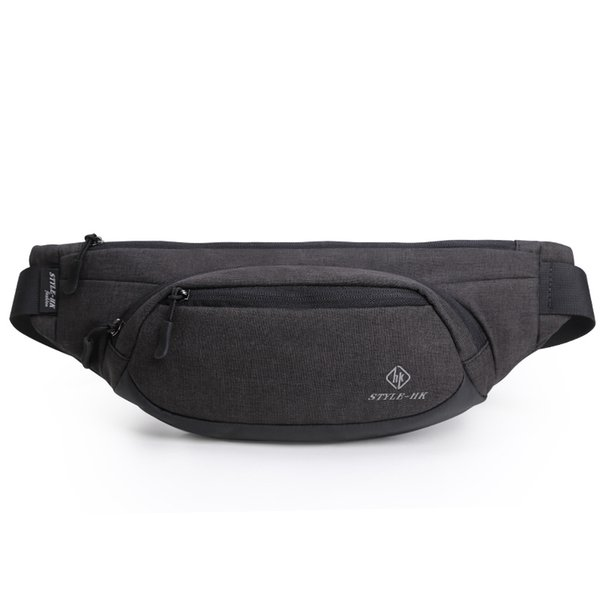 Hk Fanny Pack Men Black Waterproof Waist Bags For Men Fashion Cigarette Phone Case Money Belt For Travel Security Wallet Purse J190521