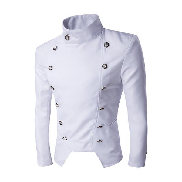 Compre Chaqueta De Hombre Nuevo Blazer Para Hombre Soporte De Cuello Cruzado Vestido De Fiesta Oficina De Negocios Chaqueta Informal A $114.52 Del