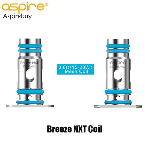 Aspire Breeze NXT bobine 0,8ohm bobine de maille 15W-20W sortie Fit Pod Breeze NXT pour Aspire Breeze NXT Kit 3pcs / Pack 100% d'origine