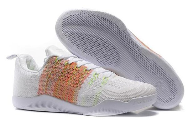 2018 Hot 12 colores kobe 11 XI Elite BHM Eulogy zapatos de baloncesto de cemento negro para zapatillas de deporte de alta calidad KB 11s para hombre talla 40-46