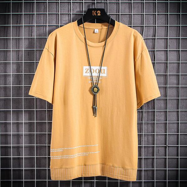 Homens t-shirt amarelo