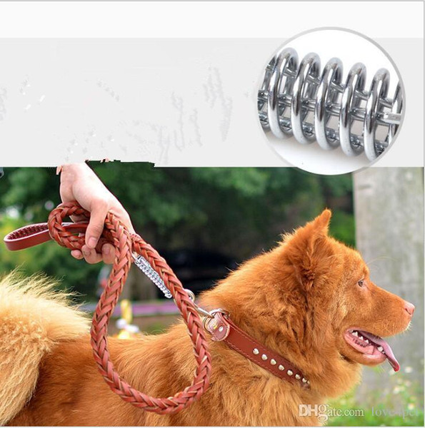 D11 PU leather pet dog collar and leashes set for Medium large dogs pet traction suit New arrival