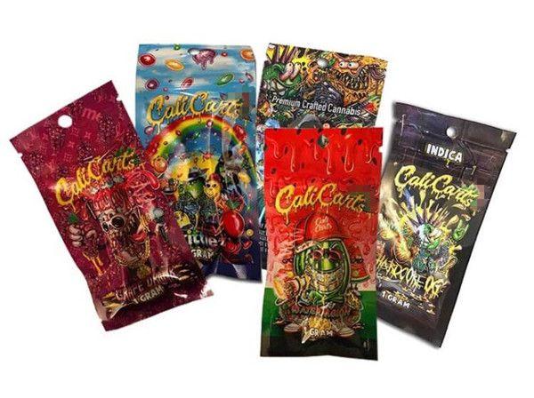 Vape Cartridge Verpackung Cali Bag 1 Gramm Calicart Wiederverschließbare Zip-Lock-Tasche Beutel Zigaretten électroniques Zubehör billig dhgte online