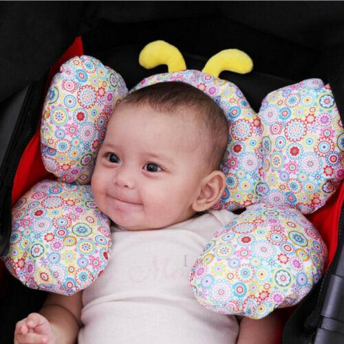 top popular 2019 New Cute Infant Baby Soft Portable Cotton Car Seat Pillow Cushion Pram Stroller Headrest Support Pad Pillow 2021