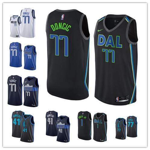 best sneakers ea4cc 9f3d6 Mavericks City Luka 77 Doncic Edition Jersey Men'S Dallas Dirk 41 Nowitaki  Dennis 1 Smith Jr. Basketball Offensive Tee Shirts T Shirt A Day From ...