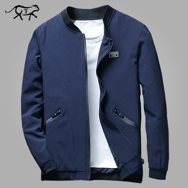 new spring autumn bomber jacket men casual solid fashion slim pilot bomber jackets coat men wind breaker jacket plus size m-8xl - from $28.70