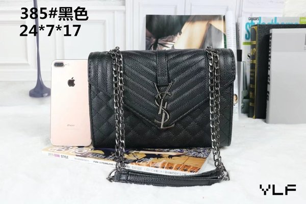 New style Hot sale Ladies Brand Name Women handbags High Quality Leather Shoulder Bags totes gold chains Shoulder Bags handbags purse