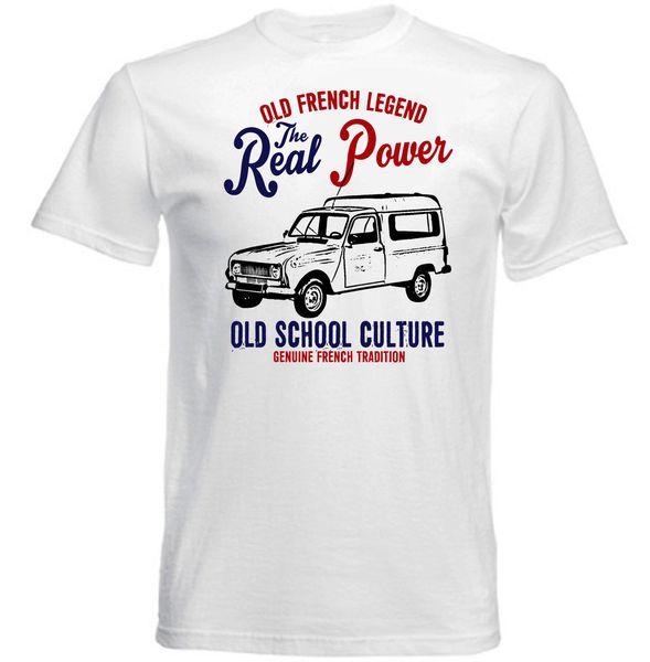 VINTAGE FRANZÖSISCHES AUTO RENAULT 4 FOURGONNETTE - NEUES BAUMWOLLT-SHIRT Hoodie Hip Hop T-Shirt Jacke Kroatien Leder TshirtCustom Jersey