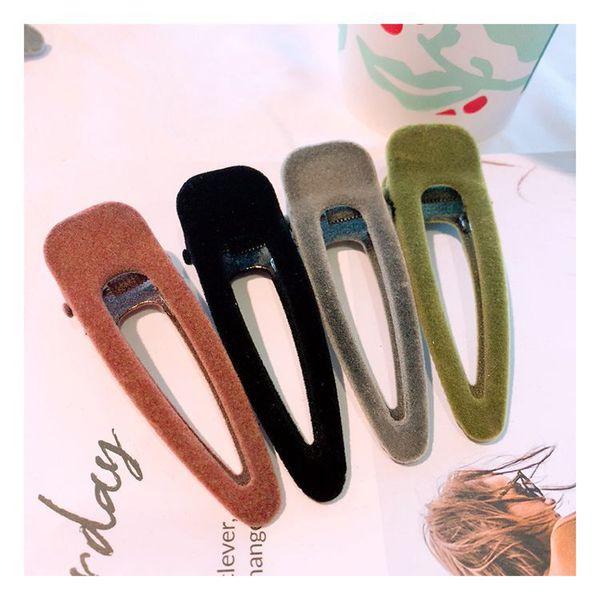 8CM C style Vintage velvet versatile hairpin four-color side clip duckbill clip for Ladies collection hair accessories vip gift 4pcs/lot