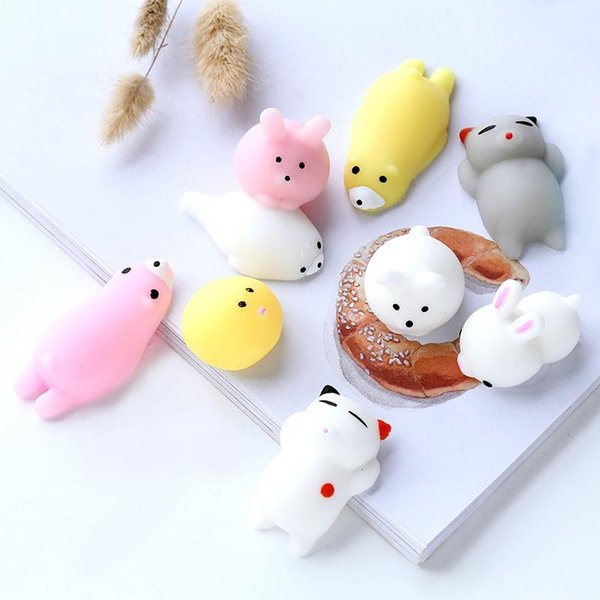 Mini Animal Squishy Anti-stress toy cute colorful types Abreact Soft Sticky Stress Relief Funny Gift Toy for friends LJJQ177