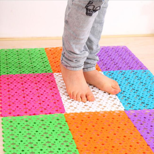 30x20cm bath mats creative 6 colors DIY easy bathroom massage carpets plastic shower mat toilet floor mats