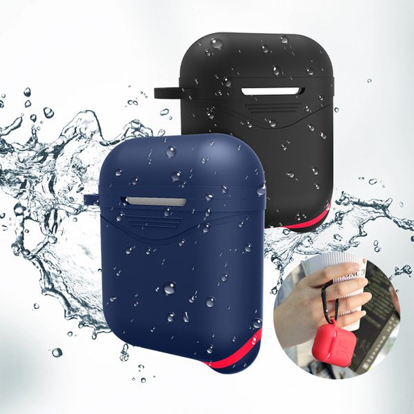 Creative New Anti-Drop for Apple Bluetooth Headphone Case Waterproof Airpods Protector with Dust-proof Plug and Hook