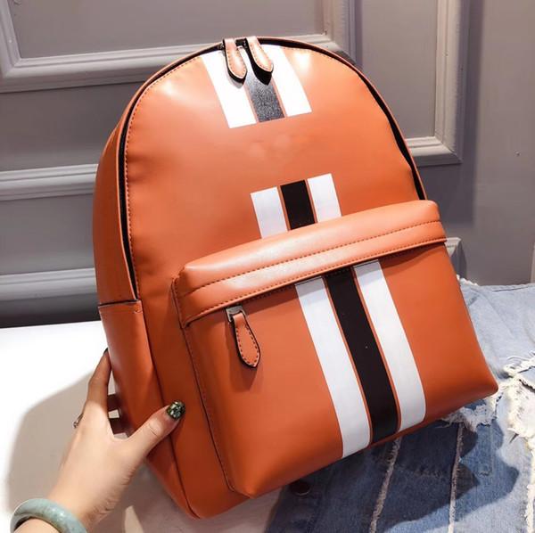 Топ сшивания пара плечо withlogo дизайнерская сумка высокого качества женская сумка случайный мужской рюкзак