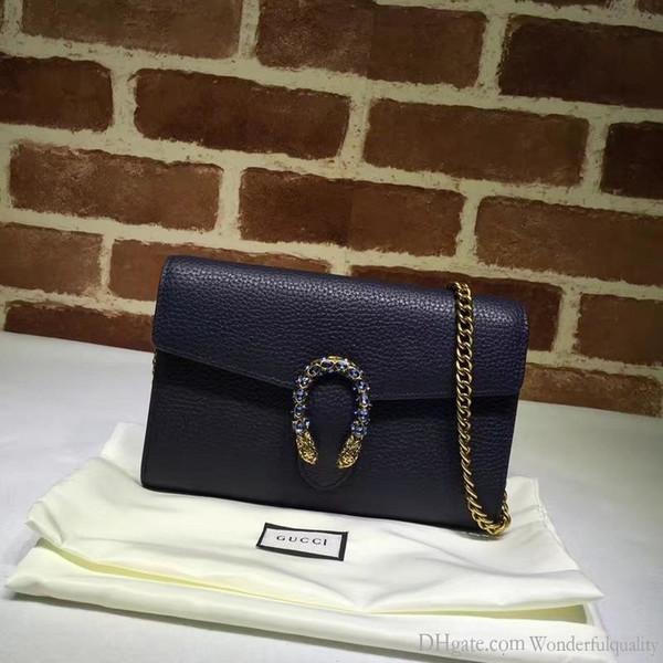 Top-Qualität Design Beschriften Schnalle Schulter-Kette Tasche Frauen-echtes Leder 401231 Umhängetasche Messenger Bag