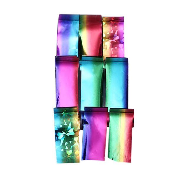Etiqueta engomada para el clavo 12 UNIDS Diseño Nail Art Foil Stickers Transferencia Decal Consejos 4 * 20 CM Manicura Decoración arte diseño 0109