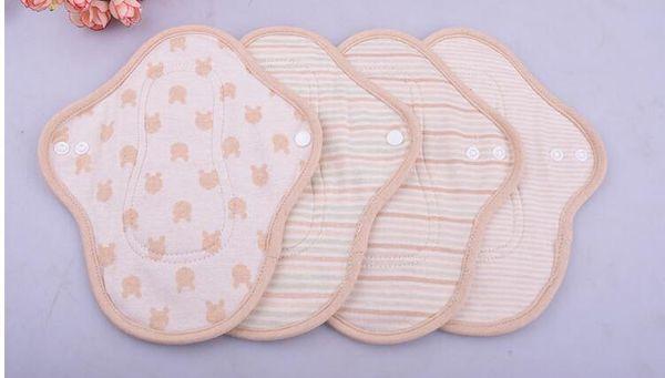 5 Pcs 230mm Nouvelle Arrivée Femmes Hygiène Féminine Réutilisable Lavable Culotte Doublure Coton Tissu Mama Ménstruel Sanitaire Nappy Serviette Pad