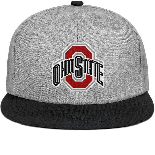 Erkekler ve kadınlar için Ohio State Buckeyes düz ağız şapka siyah snapback tasarımcı çocuk şapka spor kendi moda şık sevimli persona tasarım