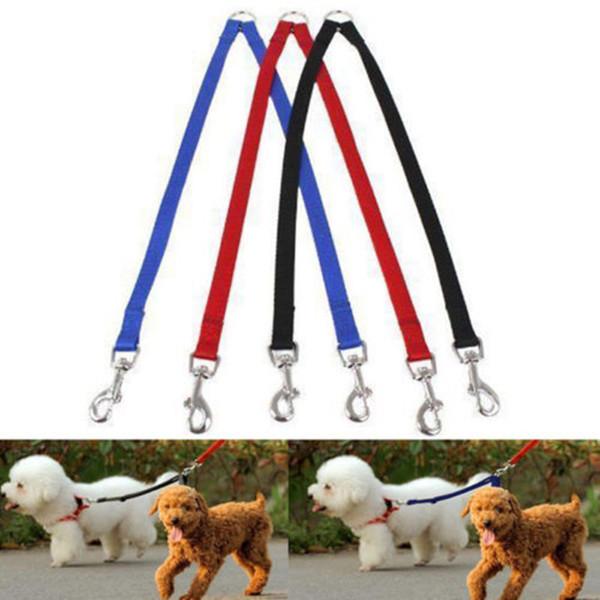 Дуплекс Double Dog ответвитель Твин Dual Lead 2 Way Два Pet Dogs Walking безопасности Поводок Мода собак ошейники Ведет
