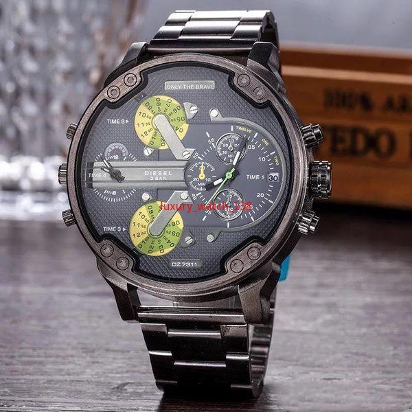 2019 горячая распродажа часы большой Dail 50мм мужские часы американские Бразилия наручные часы стиль кварцевые бизнес мужские часы 3А