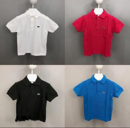 Çocuk Boys Polo Gömlek Yaz Üst Erkek Kısa Kollu T-Shirt Timsah Nakış Çocuk Tasarımcı T-Shirt Erkek Kız Giysileri Için