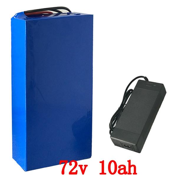 Batería eléctrica de 72V Batería de litio de 72V 10AH Batería de litio de 72V 10ah con 30A BMS y 84v 2a cargador para 1000W 1500W motor