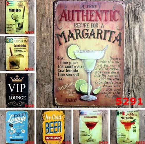 Bar Mojito Pittura Cuba Cocktail vintage placca Targhe in metallo Retro Metallo Ferro pittura della decorazione della parete di Bar Cafe Home Club birreria Crafts