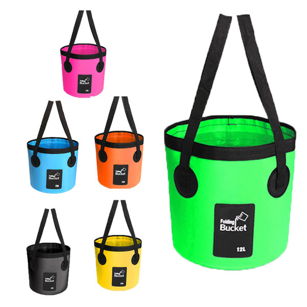 Water Bag 12L 20L Portable Bucket Water Storage Bag Container Carrier Car Wash For Boating Hiking Travel Bucket Bags Fishing Buckets M238Y