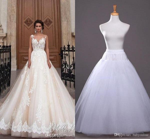 2019 Em estoque uma linha anágua baratos nupcial acessórios nupcial de deslizamento para vestidos de noiva nupcial Underskirt CPA212