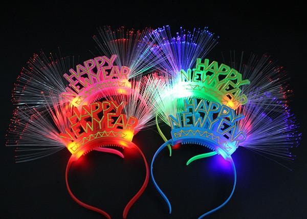 번호 2019 LED가 깜박이는 안경 라이트 헤드 밴드 바 나이트 클럽 장식 글로우 파티 신년 크리스마스 navidad 장식